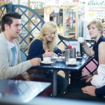 Students Drinking Coffee At Swansea Market