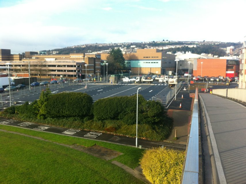 St Davids Shopping Centre and Oldway House