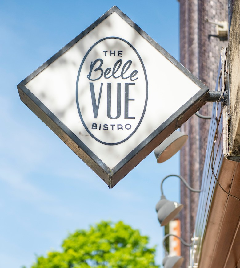 The Belle Vue Bistro - signage