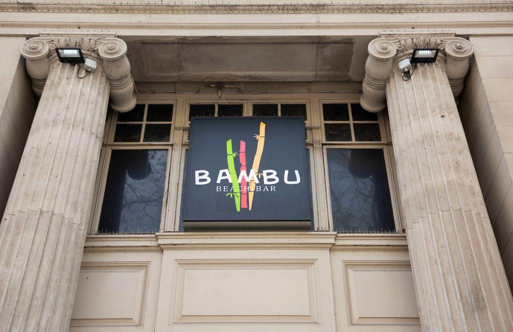 Signage of Bambu, Swansea