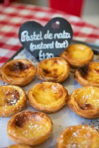 Portuguese custard tarts in Pastel de Nata