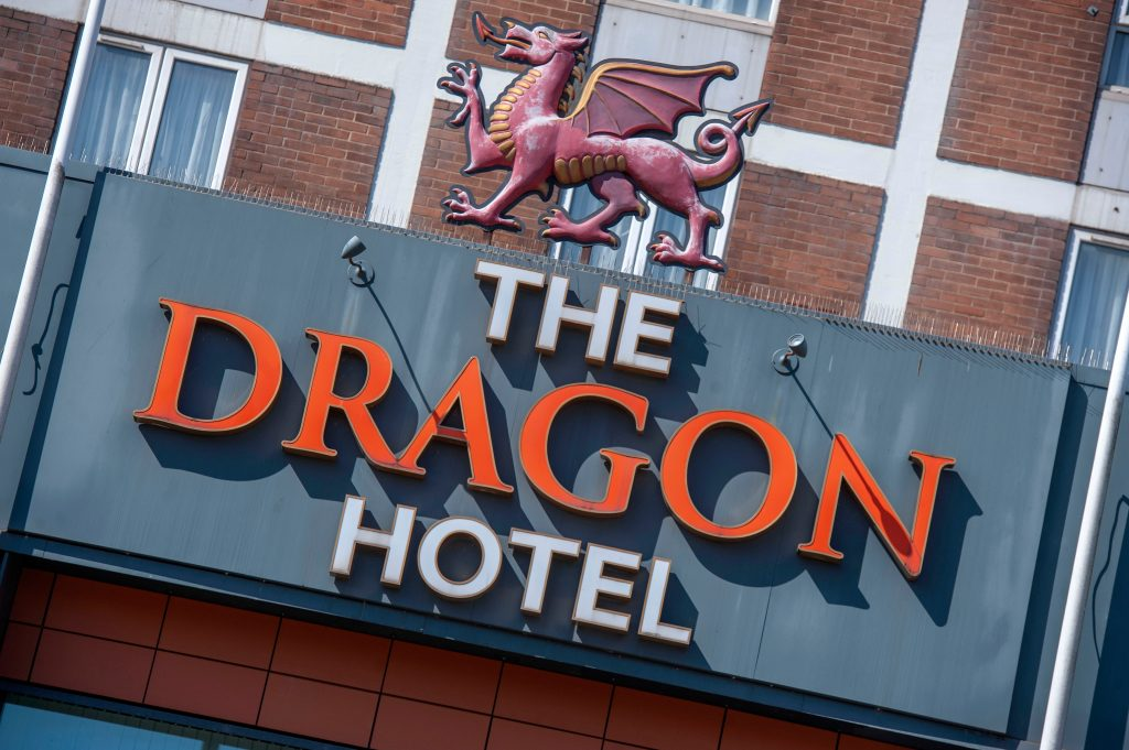 Dragon Hotel signage